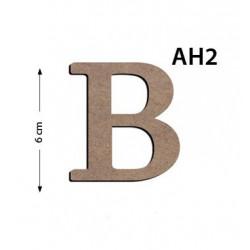 Ah2 Ahşap 6Cm B Harfi