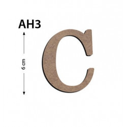 Ah3 Ahşap 6Cm C Harfi