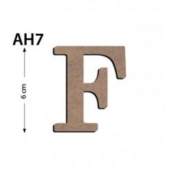Ah7 Ahşap 6Cm F Harfi