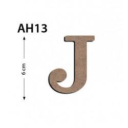 Ah13 Ahşap 6 Cm J Harfi