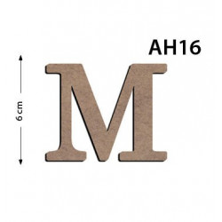 Ah16 Ahşap 6Cm M Harfi