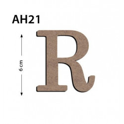 Ah21 Ahşap 6 Cm R Harfi