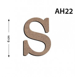 Ah22 Ahşap 6Cm S Harfi