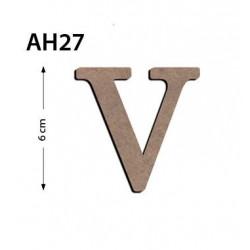 Ah27 Ahşap 6Cm V Harfi