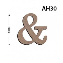 Ah30 Ahşap 6Cm & Harfi