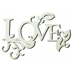 Y12 Love Yazısı Ahşap Obje