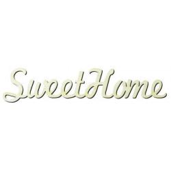 Y11 Sweet Home Yazısı Ahşap Obje