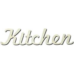Y9 Kitchen Yazısı Ahşap Obje