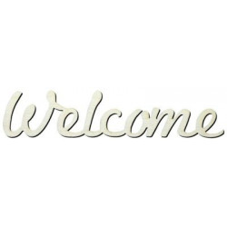 Y7 Welcome Yazısı Ahşap Obje