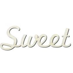 Y5 Sweet Yazısı Ahşap Obje