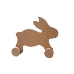 To4 Tekerlekli Oyuncak Tavşan