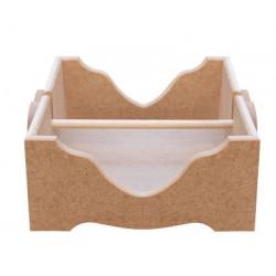KU18 Kalpli Çubuklu Peçetelik Kutu