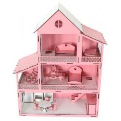 EV10 Pembe Barbie Ev Eşyalı