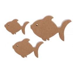 F28 Üçlü Balık Set Ahşap Biblo