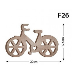 F26 Ahşap Bisiklet Figürü Biblo Ahşap Obje