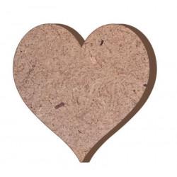 F23 Kalp Figürü Biblo Ahşap Obje