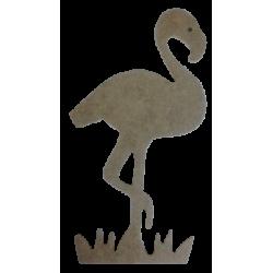D25 - Küçük Boy Flamingo Ahşap Obje