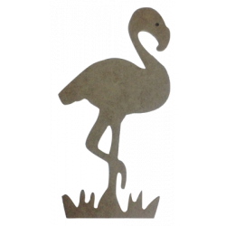 D24 - Büyük Boy Flamingo Ahşap Obje