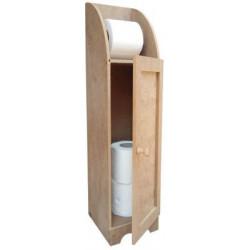 H5 Stoklu Tuvalet Kağıtlık Dolaplı Ahşap Obje