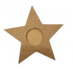 M33 Ahşap Yıldız Mumluk